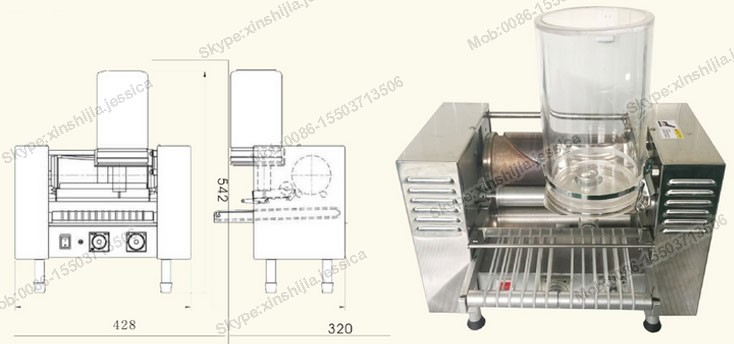 Accurate commercial automatic layer cake making machine