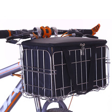 Kids Basket Bike Front Rear for Tricycle Bicycle Folding Picnic Baskets