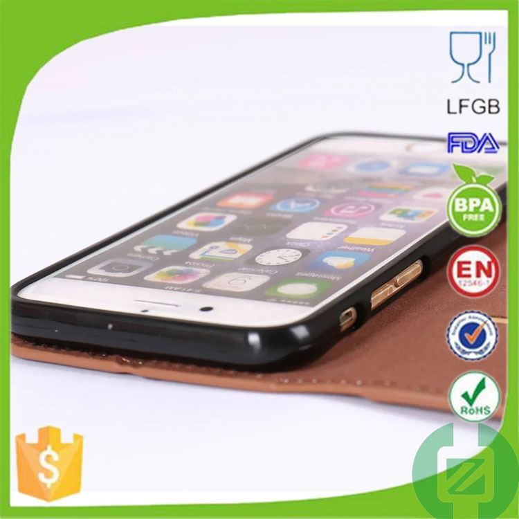 online shopping card slot leather phone cover for iphone 6