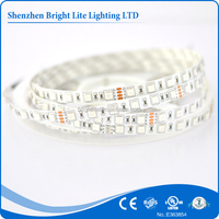5050 Nonwaterproof ip20 RGB 60led UL certificate led strip light aluminum profile