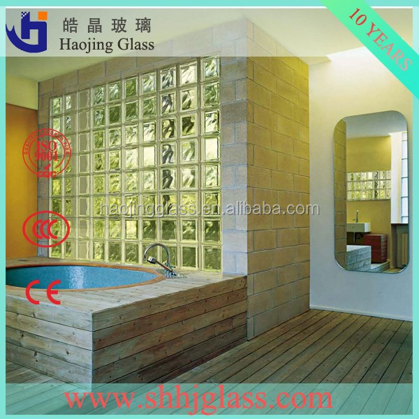Haojing glass block / brick for bathroom decoration wall floor etc