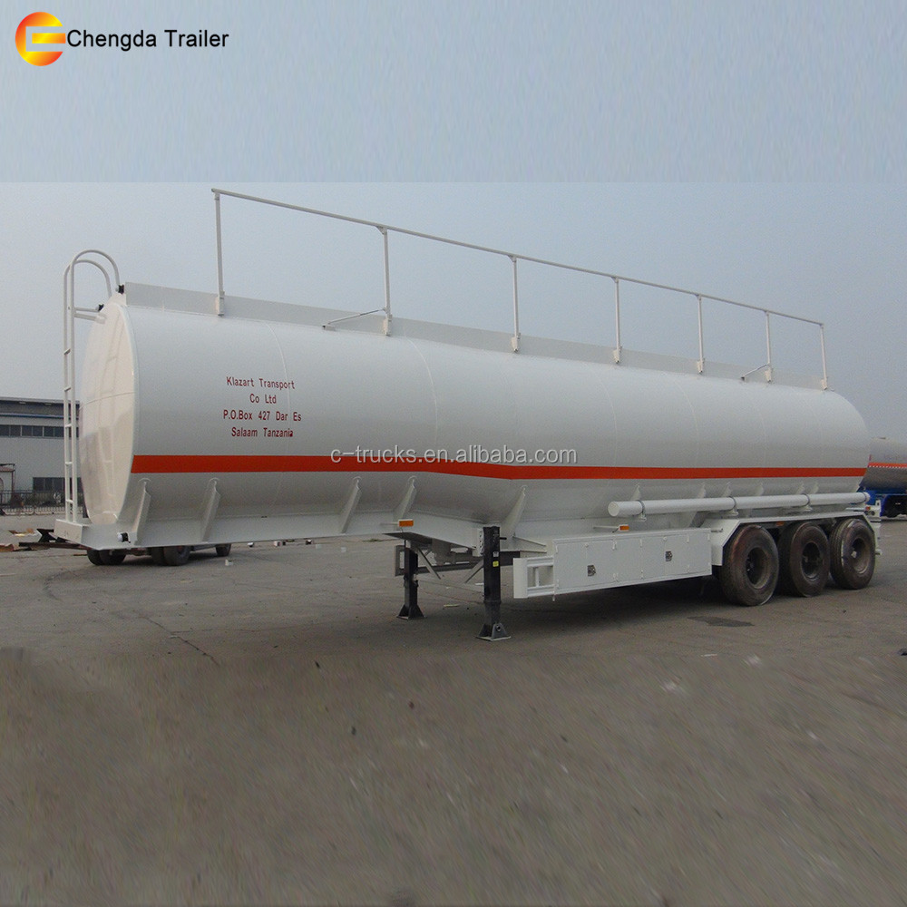 45000 50000 Liters 3 Axles Liquid Oil Milk Aluminium Alloy Fuel Tanker Semi Trailer