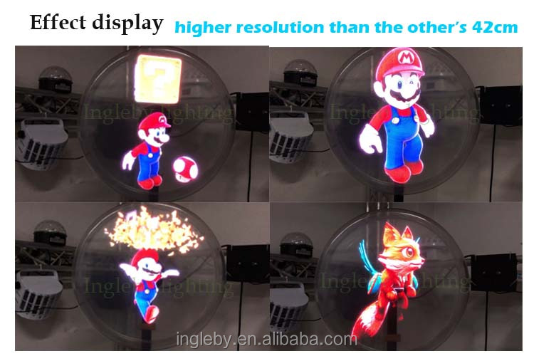 Mobile Phone control High Resolution Wifi Holographic Display LED 3D Hologram Fan for Advertising