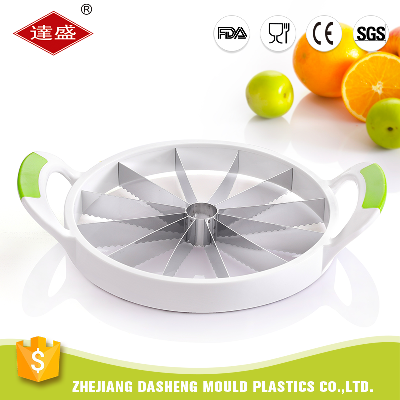 Best price wholesale plastic stainless steel fruit cutting melon watermelon slicer