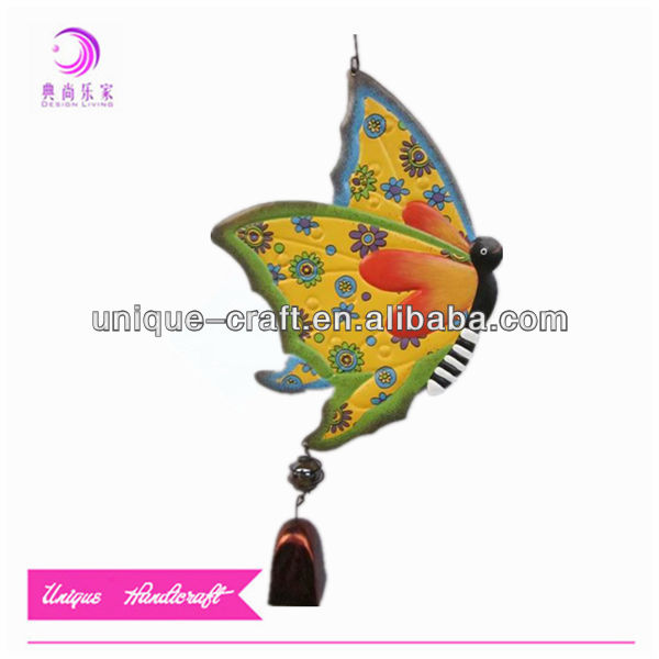 new fashion hanging wind chimes indoor outdoor metal garden butterfly decoration hanging wind bell chimes
