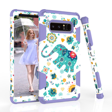 Brand Name Phone Case Scratch Resistant Full Protective PC Silicone Defender, 3 In 1 Hybrid Phone Case Cover For Samsung Note 8