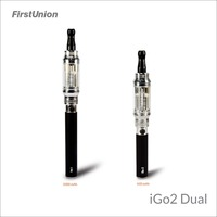 2014 latest inventions vv vw ecig mod iGo2 dual 900 puffs&1300 puffs electronic hookah cigarette wholesale