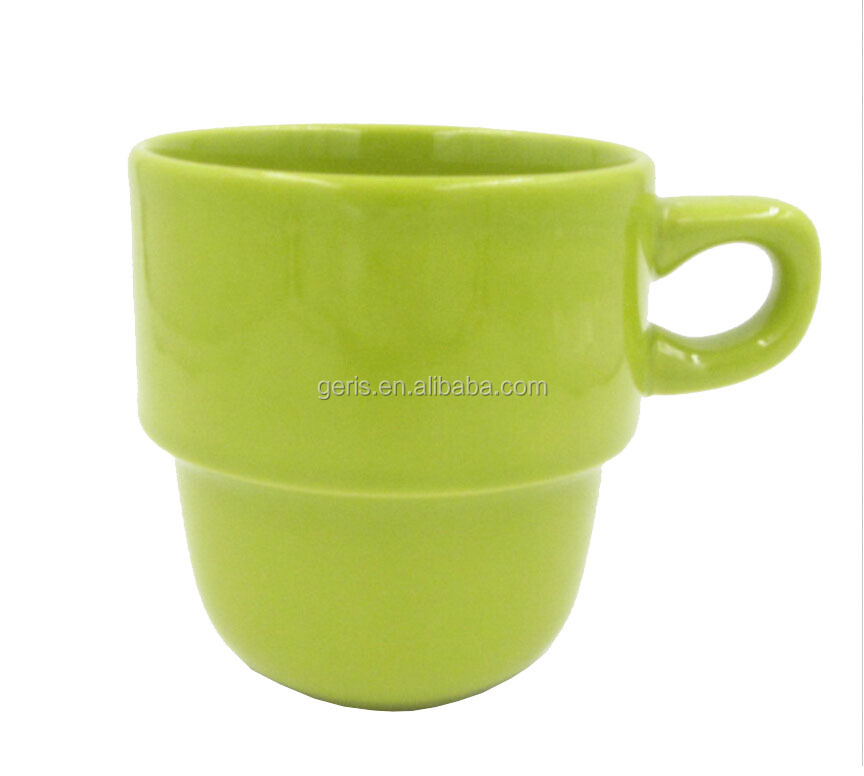GRS stacking ceramic mug ,stackable coffee mug