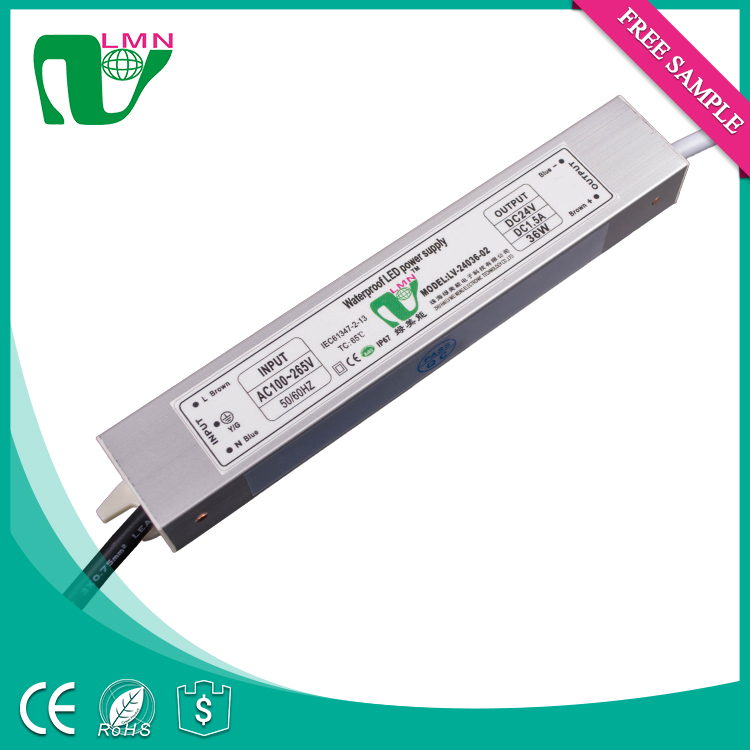 24V 36W waterproof power supply outdoor light led driver