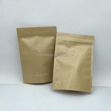 Reclosable and Heat sealable plain unprinted Kraft zipper bags