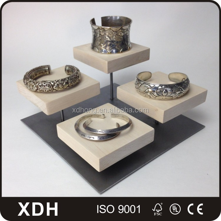 Hot sale wooden jewelry display sets bracelet display stand