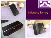 Factory price Magnetic Slot leather case for mobile phone genuine leather phone case