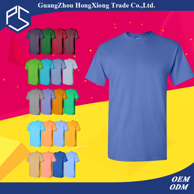 2016Hongxiong Factory Custom Short Sleeve O-neck 100% Cotton New Style T Shirt Design For Men Fashion Clothing