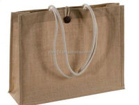 cheap custom wine bottle jute bag with bamboo ring