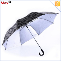 Camouflage fabric 2 section automatic fold up umbrella
