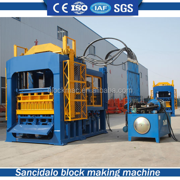Hollow block factory QT6-15 automatic cement sand brick making machine