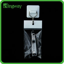 white header transparent opp bag with self adhesive tap plastic packaging bag