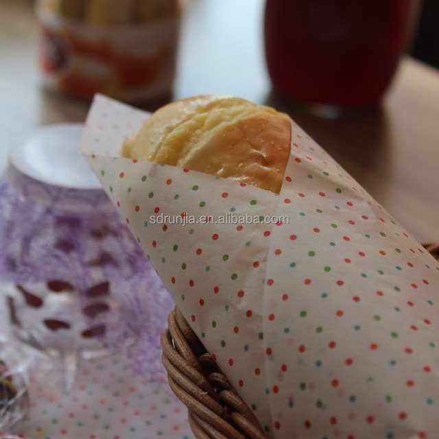 Printed greaseproof Paper for wrapping food