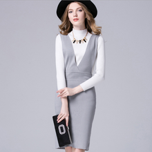 CA1106 fashionable women overall sweater dress