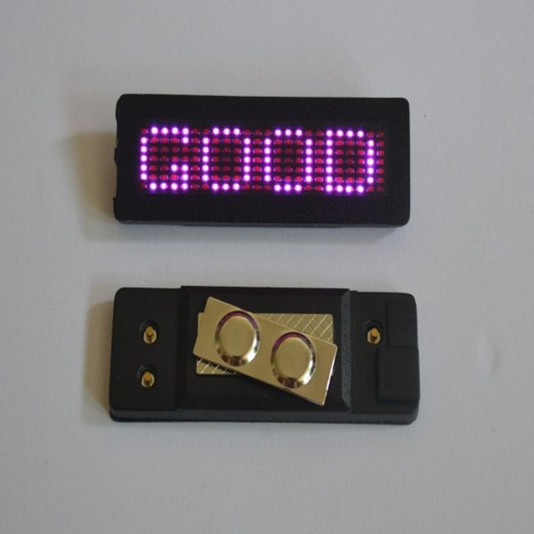 New RED LED Name Badge Tag Programmable Sign Moving LED Message Display