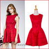 2016 Latest Design Brand Celebrity Fashion Red Short Party Dress Pattern Evening Dinner Dress Short For Ladies