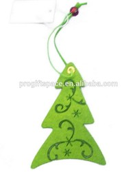 green hot high quality new products hanging fabric christmas tree ornament made in China on alibaba express for promotional gift