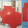 round dot and red background adult big size 75gsm 100% polyester microfiber bedsheet sets
