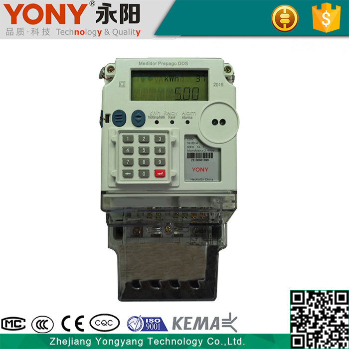 Convenient Installation Single Phase Sts Keypad Prepaid Meter