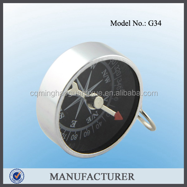 G34 keychain compass manufacturer with dial for direction in dark