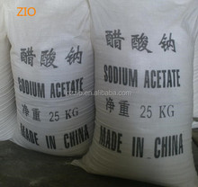 Sodium acetate crystal C2H3O2Na price sodium acetate trihydrate anhydrous food grade.