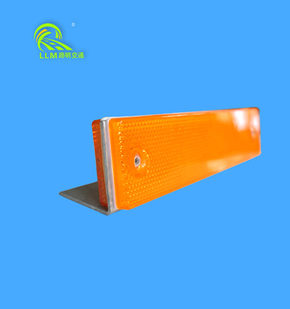 CE traffic guardrail single and double sides reflective delineator highway guardrail delineator