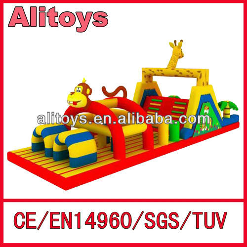 2013 new style playgroud inflatable obstacle course for kids