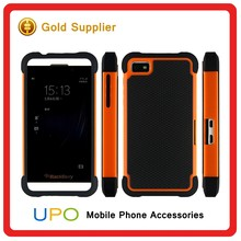 [UPO] Factory Price Defender Cover 3 in 1 Protective PC + Silicone Front and Back Cover Case for BlackBerry Z10