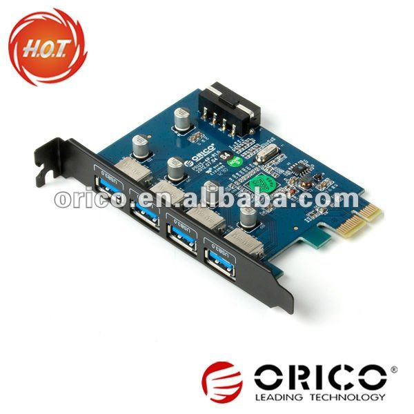 ORICO PRU3-4P Desktop 4 port usb3.0 pci express serial port card/HUB