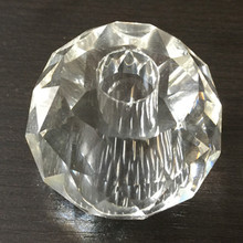 Dia 40mm K9 Crystal Faced glass Ball with polished hole
