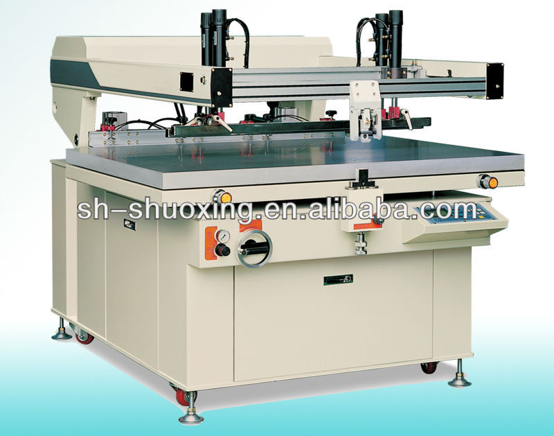 Graphic screen printing equipment, semi automatic flatbed screen printer