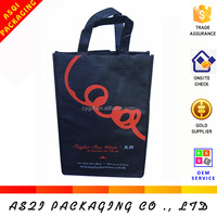 alibaba china custom non woven resuable durable black market handbag with divider