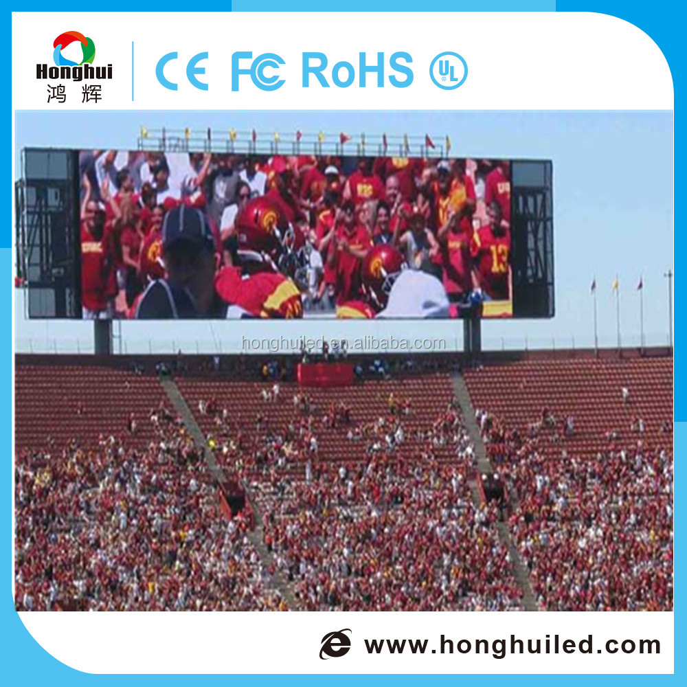High resolution full color hd video outdoor replacement P8 led display screen