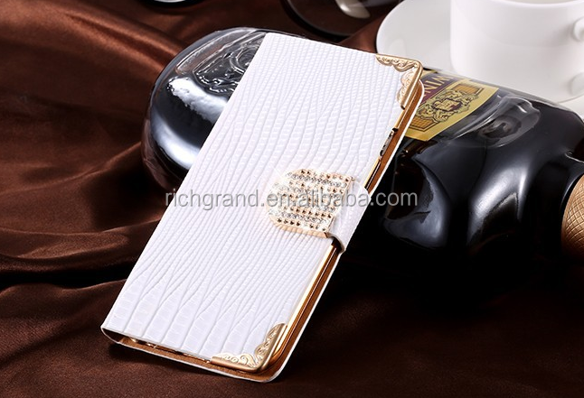 Rhinestone Bling Diamond wallet stand Leather Case for iPhone 4g 5s
