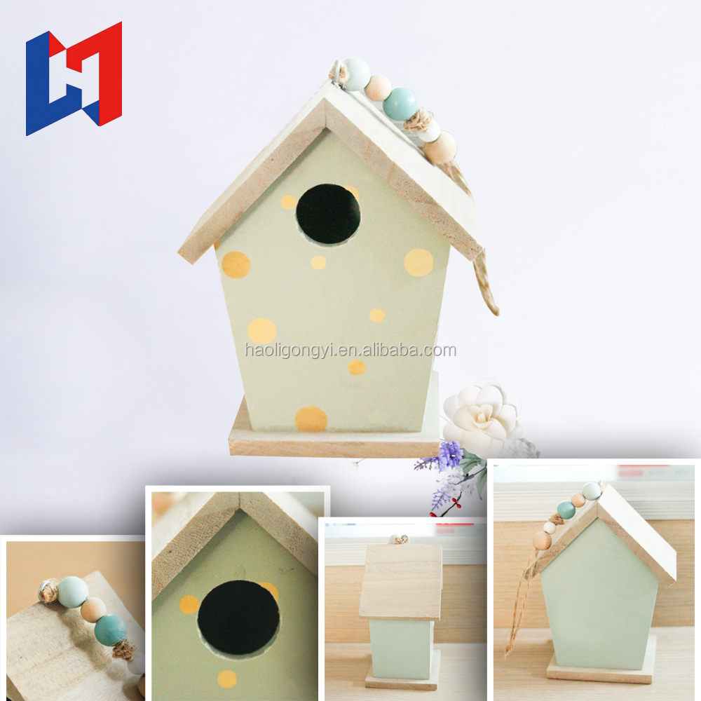 Wooden Bird Cage/ Wood Bird House / Outdoor Small Hanging Bird Feeder