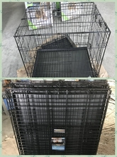 black superior powder coated iron foldable wire pet cage dog cages for American market