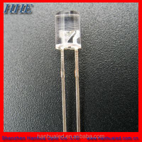 5mm concave green color led water clear lens flat top led diode