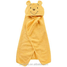 eco friendly 100% cotton cute animal printed kids hooded bath towel HBT-004
