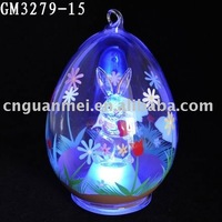 LED hand painted easter bunny in the egg-shaped ball