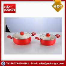 Popular selling aluminum non-stick saucepot with lid