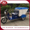 High Quality 60V 800W Three Wheel Electric Garbage Tricycle For Sale