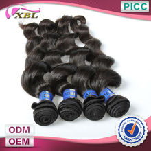 XBL Hot Sale Unprocessed Virgin Hair Weave Grade 7a 100% Peruvian Remy Human Hair