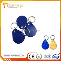Ntag213 RFID Hotel Key Tag , NFC Chain Ring Door Access Control Key Fob