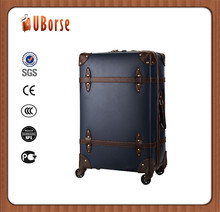 Vintage PU Leather Suitcases 4 piece Luggage set Trolley baggage cases
