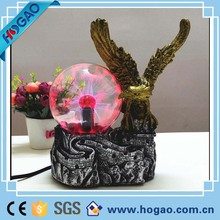Creative resin garden owl with led lights, wholesale resin owl statue